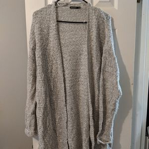 Francesca's Collection grey Knee Length Cardigan